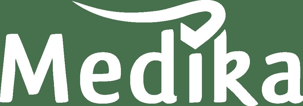 medika logo white
